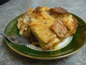 Bread Pudding With Pears